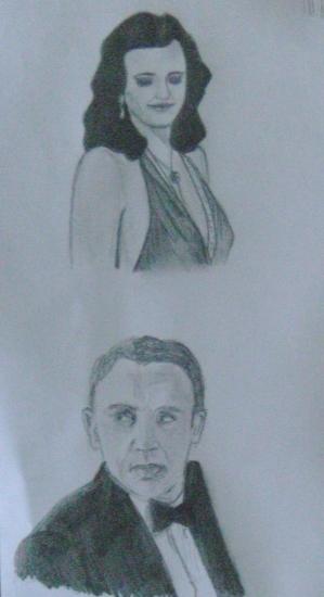Eva Green, Daniel Craig by morgane